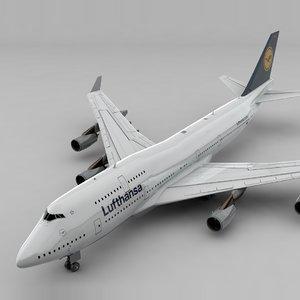 boeing 747 lufthansa l802 3D model