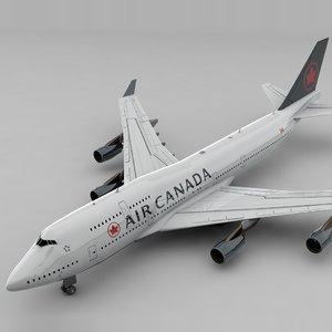 boeing 747 air canada model