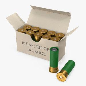 box 16 gauge shotgun 3D model