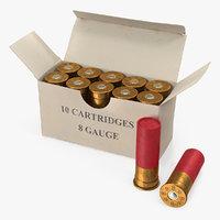 Box of 8 Gauge Shotgun Shells