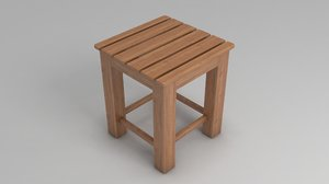 3D footstool chair furniture model