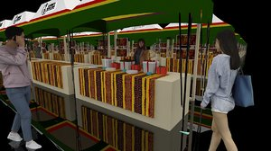 market stands exhibition 2x3m model