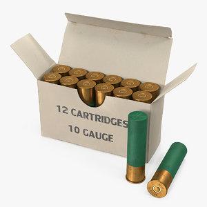 box 10 gauge shotgun 3D model