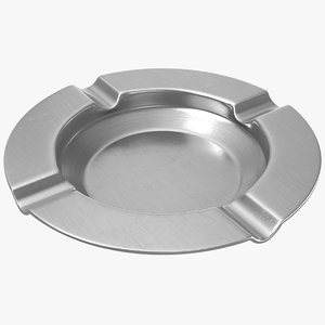 metal ashtray 3D model
