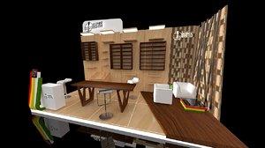exhibition stands 2x5m 10sqm 3D model