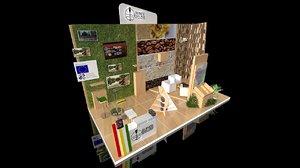 exhibition stand 6x3m 18sqm 3D