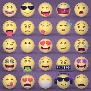 emoticons pack 3D