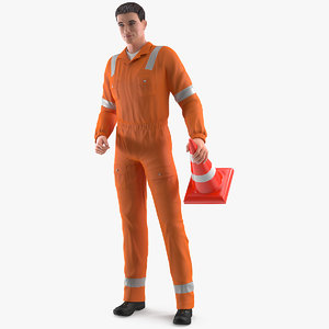 road worker standing pose model