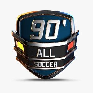 sport emblem 3D