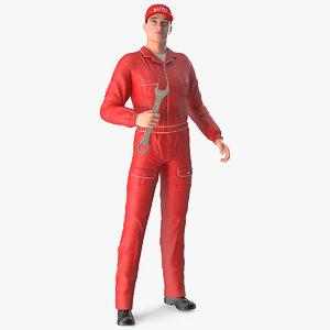 auto mechanic standing pose model