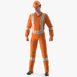 3D rescuer standing pose rescue model