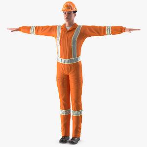 3D model rescuer t-pose rescue