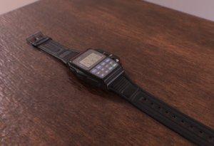 casio smartwatch 1988 3D model
