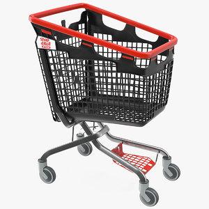 araven plastic shopping trolley 3D model