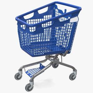 pp plastic shopping cart 3D model