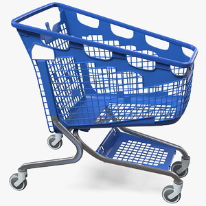 3D pp plastic shopping trolley