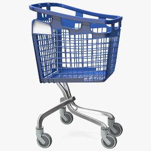 plastic shopping trolley 100l 3D