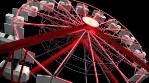 3D ferris wheel model