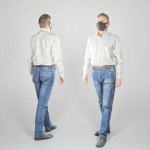3D model adult man character