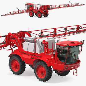 3D self propelled crop sprayer