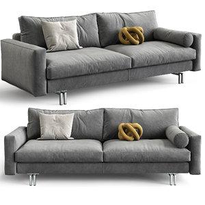 3D interface sofa blues model