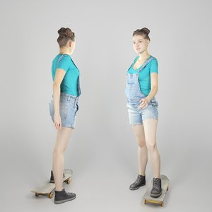 3D photogrammetry young woman character body