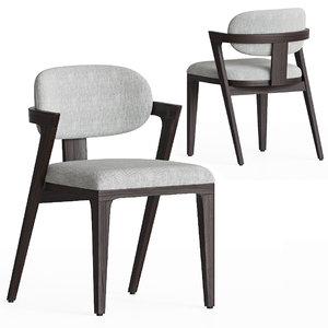 adam court upholstered dining chair 3D model