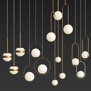 3D - ceiling light 2 model