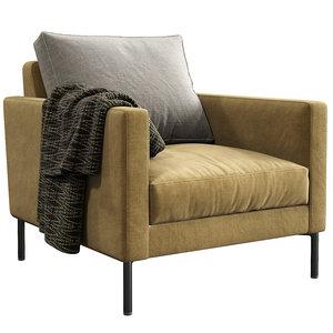 interface armchair luca 3D model