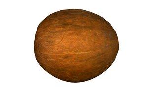 coconut fruits 3D model