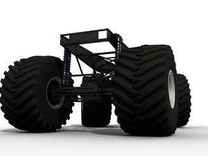 monster truck frame model