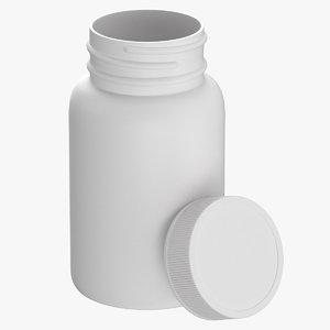 plastic bottle pharma 75ml 3D model