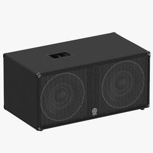 3D professional yamaha speaker sw218v model