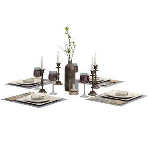 set table 3D