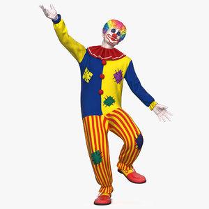 clown costume rigged 3D model