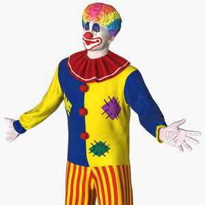 clown costume rigged modo 3D