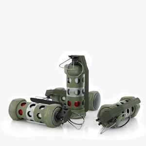 3D m84 grenade stun