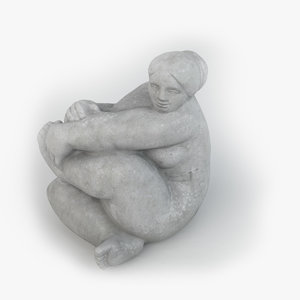 felicitas stone sculpture 01 3D model