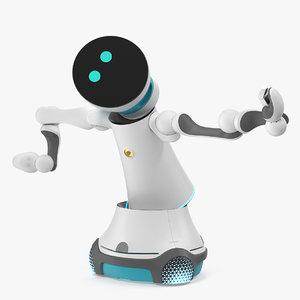 3D modular service robot rigged