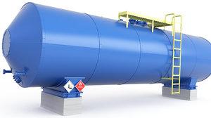 3D model tank bitumen mazut