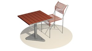 3D chair table model