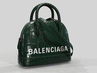 Balenciaga Ville Top Handle XXS Green Crocodile