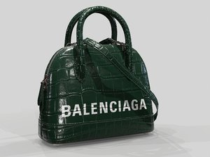 balenciaga ville handle xxs 3D model