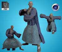 Armored Male Ninja Undead Samurai Low-poly 3D model