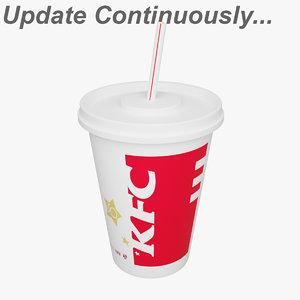 kfc cola cups 3D model