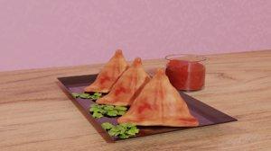 3D snacks food