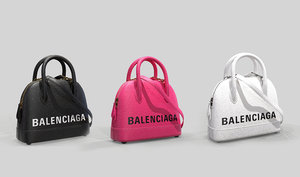3D balenciaga ville handle xxs model