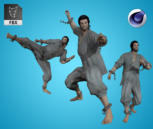 3D rigged pbr animation