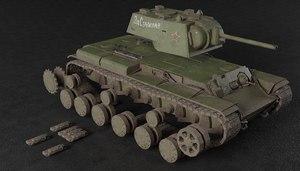 kv-1 soviet heavy tank model
