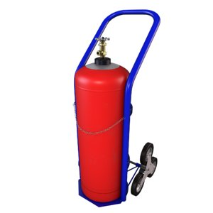 3D red propane gas cylinder